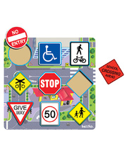 Tuzzles Road Traffic Signs Raised Puzzle - 9pcs