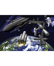 *Tuzzles Space Scene - Floor Puzzle 48pcs