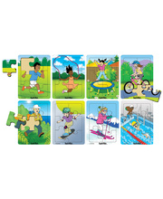 *SPECIAL: Tuzzles Fit & Healthy Activities Puzzles - Set of 8
