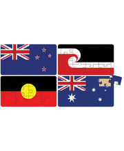 Tuzzles Australian & New Zealand Flag Puzzle Set of 4