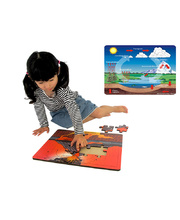Tuzzles Water & Volcano Cycle Puzzles - Set of 2