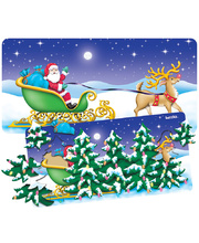 >Tuzzles Santa and Sleigh Double Layer Puzzle - 14 & 23pcs