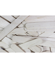 Natural Wooden Jumbo Pop Sticks - 100pk