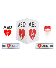 AED/Defibrillator Complete Wall Sign Kit
