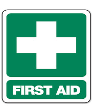 First Aid Sign for Wall - Polypropylene 22.5 x 30cm