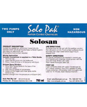 *Solo Pak SoloSan Sanitiser - Replacement Label Only