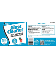SoloPak Glass Cleaner - Replacement Label Only