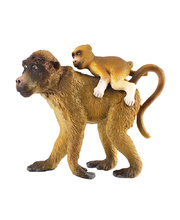 CollectA Wild Life Replica - Baboon Female With Baby 7 x 5.5cmH
