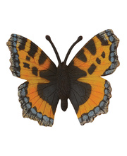 CollectA Insects & Bug Life Replica - Small Tortoiseshell Butterfly 7 x 3cmH