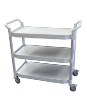 Multi Purpose Plastic Trolley - Heavy Duty Grey