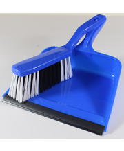 Dust Pan & Brush Set - Blue