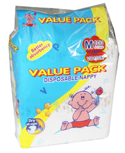 Value Pack Nappies - Medium 5 to 10kg 100pk