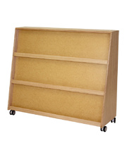 @Vic Ash Hardwood Storage Unit - Sloping Book Shelf