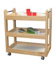 Pine Food Trolley - 3 Shelf