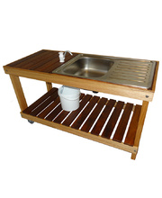 Merbau & Hardwood Outdoor - Mud Kitchen with Pump