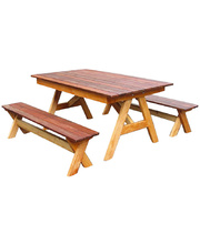 Jarrah & Hardwood Outdoor - Table & Bench Seats
