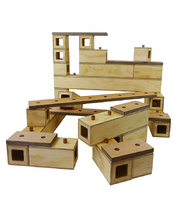 Plywood Connector Wooden Blocks - 26pcs