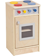 Birch Natural Role Play Preschool Kitchen Set - Cooktop/Oven