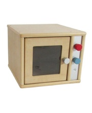 Birch Natural Role Play Preschool Kitchen Set - Microwave