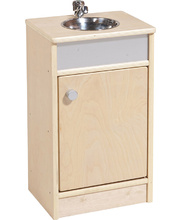Birch Natural Role Play Preschool Kitchen Set - Sink Unit