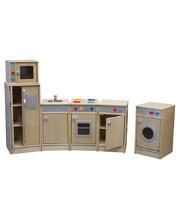 Birch Natural Role Play Preschool Kitchen Set - 6pcs