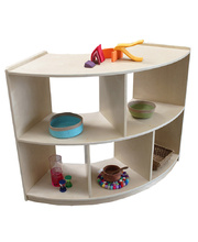 Birch Standard Shelf Unit 90cmH - Curved with Open Back