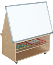 Birch Mobile Teacher's Station - With Castors & Whiteboard