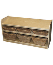 Birch Low Sloping Storage Unit - With 6 Baskets