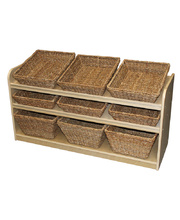 Birch Low Sloping Storage Unit - With 9 Baskets