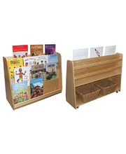 Birch Book Storage Unit - With Castors