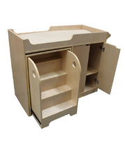 Birch Change Station with Pull Out Stairs & Change Mat
