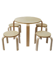 New York Style Furniture - Round Table & Two Stools