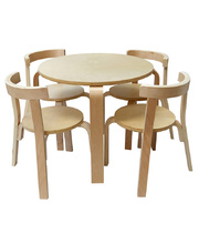 New York Style Furniture - Round Table & Four Chairs