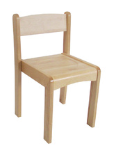 @Billy Kidz Stackable Wooden Chair - Primary (34cm)