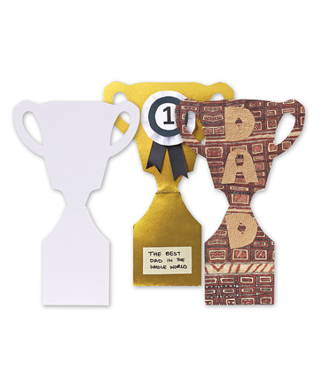 >Paper Shapes - Large White Trophy 10pk