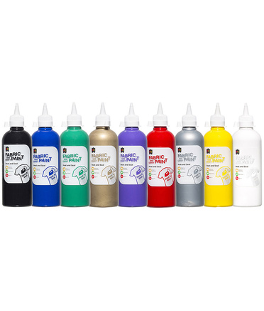 EC Fabric & Craft Paint 500ml - Set of 9
