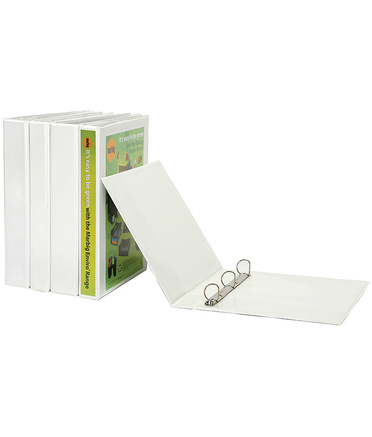 Marbig Enviro Insert Binder A4 - 25mm 4D Ring White