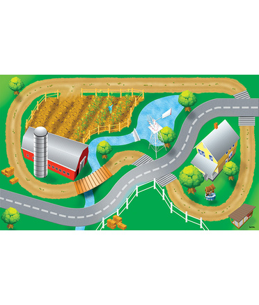 Large Vinyl Play Mat - Farm