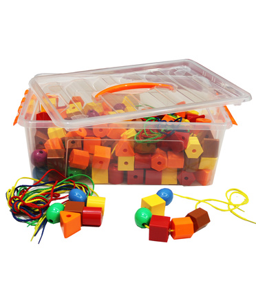 @Billy Kidz Construction Set - Geometric Shapes & String 88pcs