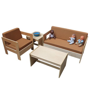 Billy Kidz Natural Wooden Sofa Suite - 4pcs