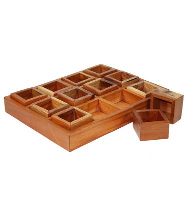 Mahogany Sorting Tray 12 Compartments Amp Boxes