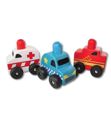 Discoveroo Squeaker Emergency Cars - Set of 3