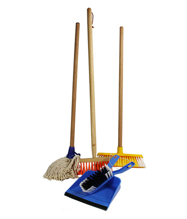Children S 5pce Cleaning Set Mop Brooms Dust Pan Amp Brush