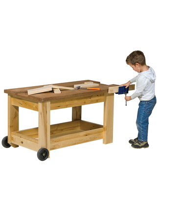 @Billy Kidz Birch Work Bench & Vice