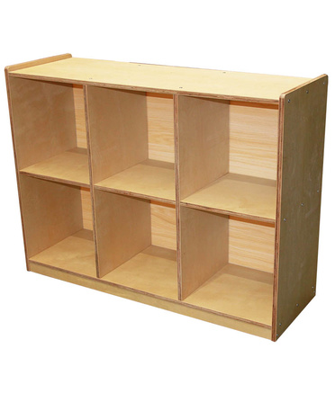Birch Locker / Cubby Storage Unit - 6 Space Horizontal