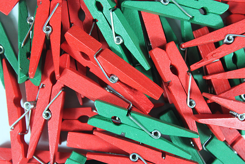 >Christmas Mini Wooden Pegs - 48pcs