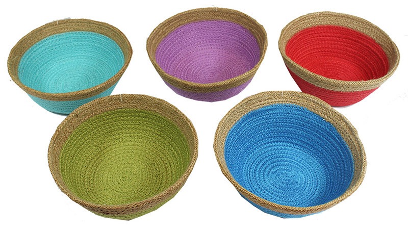 Natural Jute Bowl Small - Set of 5