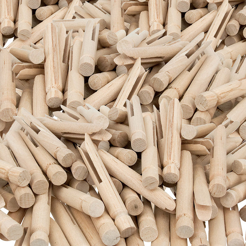 Natural Wooden Dolly Pegs - 48pk