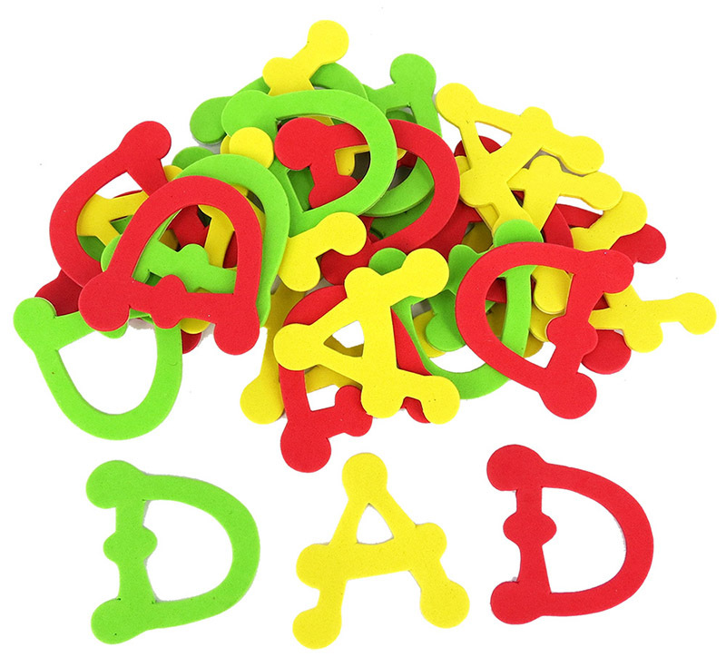*>Foam Shapes - 'DAD' Letters 30pcs