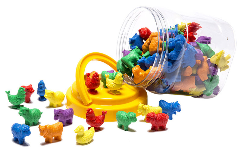 LCBF Farm Animals Counters Jar - 108pcs